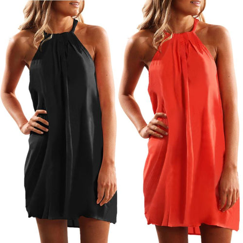 Halter Sleeveless Casual Mini Dress
