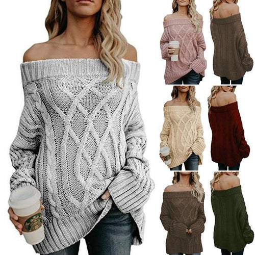 Off The Shoulder Tunic Knitwear