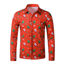 Load image into Gallery viewer, Men's Ugly Christmas Large Size 3D Faux Print Long Sleeve Shirt