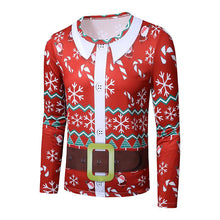 Load image into Gallery viewer, Men's Ugly Christmas Large Size 3D Faux Print Long Sleeve T-Shirt