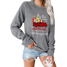 Load image into Gallery viewer, Christmas Car Tree Pattern Printing Round Neck Raglan Long Sleeve Sweatshirt