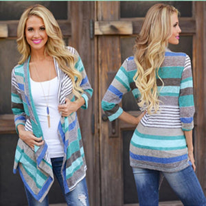 Chic Open Front Asymmetric Cardigan