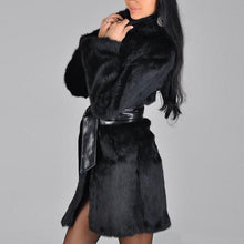 Load image into Gallery viewer, Faux Fur Coat with Belt