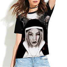 Load image into Gallery viewer, Halloween Terror Print Women's T-shirt