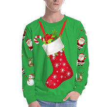 Load image into Gallery viewer, Christmas 3D Digital Print Round Neck T-shirt Tops