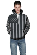 Load image into Gallery viewer, American Flag Print Couple Fashion Hoodie