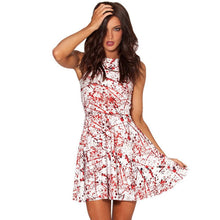 Load image into Gallery viewer, Halloween Masquerade Party Blood Print Dress