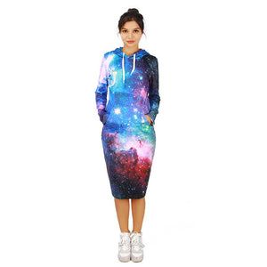 Lush Galaxy Hoodie Dress
