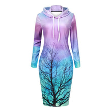 Load image into Gallery viewer, Lush Galaxy & Twig Hoodie Dress