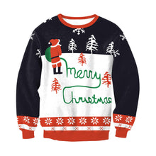 Load image into Gallery viewer, Christmas Print Crew Neck Loose Top