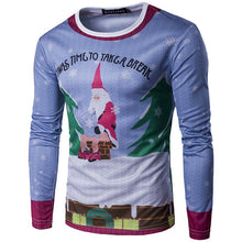 Load image into Gallery viewer, 3D Round Neck Christmas Print Long Sleeve T-shirt