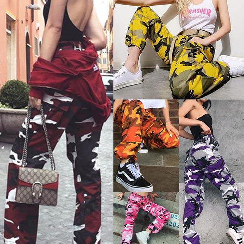 Fashion Harem Pants New Loose Camouflage Camo Elastic Waist Pants for Women