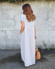 Load image into Gallery viewer, Elegant Floor Length  Short Sleeve  Summer Maxi Dress