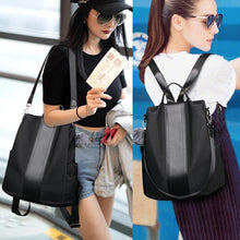 Load image into Gallery viewer, Women Backpack Waterproof Nylon Anti-theft Rucksack Shoulder Bag Travel School Bag