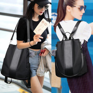 Women Backpack Waterproof Nylon Anti-theft Rucksack Shoulder Bag Travel School Bag