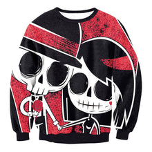 Load image into Gallery viewer, Graffiti and Skulls Long Sleeve Sweatshirt Women's Halloween Costumes