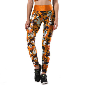 Halloween Printed Tank Top Suits
