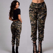 Load image into Gallery viewer, Loose Printed Casual Elastic Waist Women Camo Pants