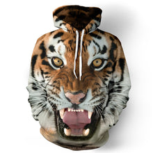 Load image into Gallery viewer, 3D Tiger Head Digital Print Baseball Uniform Hoodie