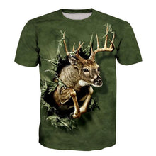Load image into Gallery viewer, 3D Elk Print Short Sleeve Men's T-Shirt