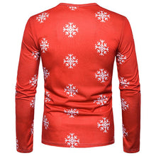 Load image into Gallery viewer, 3D Cute Elk Print Round Neck Long Sleeve T-shirt