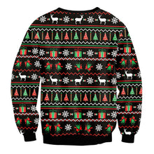 Load image into Gallery viewer, Santa Claus Print Loose Sweatshirt