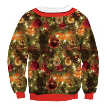 Load image into Gallery viewer, Christmas Fake Tie  Print Loose Round Neck Sweatshirt