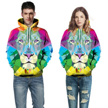 Load image into Gallery viewer, Tiger Printed Pullover Hoodie