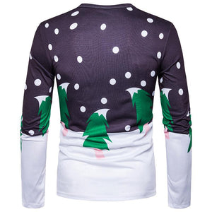 Christmas Printed Long Sleeve T-shirt