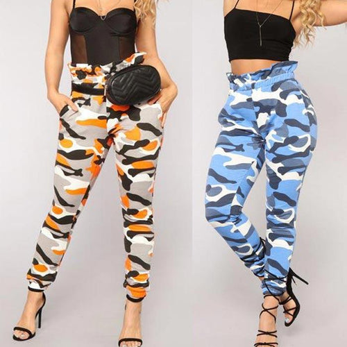 Camouflage Slim Women Sports Camo Pants