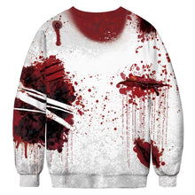 Load image into Gallery viewer, Halloween Blood Digital Print Sweatshirts Plus Size Long Sleeve Shirt