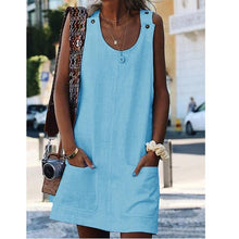 Load image into Gallery viewer, Loose Casual Solid Color Summer Tank Dress