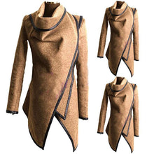 Load image into Gallery viewer, Fashion Sexy Winter Long Sleeve Solid Color  Irregular Slim Coat