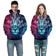 Load image into Gallery viewer, Gradient Lion Printing  Long Sleeve Sports Hoodie