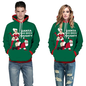 Christmas Spoof Pattern Hooded Sweatshirt
