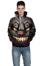 Load image into Gallery viewer, Cheshire Cat 3D Digital Print Hoodie