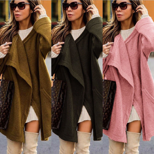 Loose Sweater Long Cardigan Women's Trench Coat