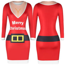 Load image into Gallery viewer, Christmas Bodycon Print Dress