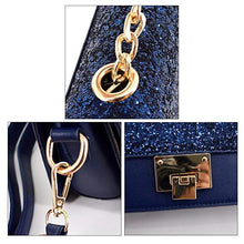 Load image into Gallery viewer, Women Sequins Handbag Top Chain Tote Multi Compartment Shoulder Crossbody Bag
