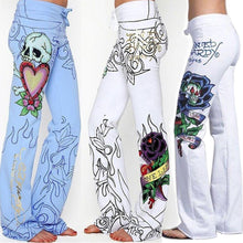 Load image into Gallery viewer, Plus Size Taro Rose Digital Print Wide Leg Pants