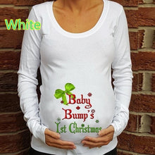 Load image into Gallery viewer, Christmas Letter Snowflake Print Pregnant T-shirt