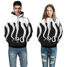 Load image into Gallery viewer, Octopus Digital Print with Cap Loose Couple Hoodie
