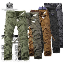 Load image into Gallery viewer, Zipper Fly Multi-Pocket Drawstring  Cargo Pants