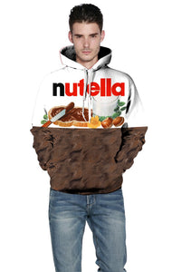 3D Chill Chocolate Print Hooded Funny Sweatshirt