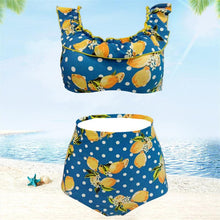 Load image into Gallery viewer, High Waist Bikini Back Button Sexy Split Ladies Swimsuit