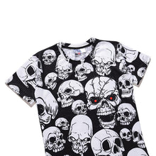 Load image into Gallery viewer, Halloween Men's 3D Skull Print Casual T-shirt