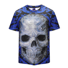 Load image into Gallery viewer, Creative 3D Skull Print T-shirt