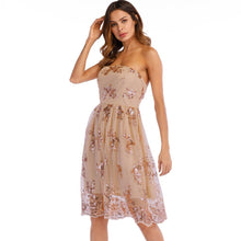 Load image into Gallery viewer, Fashion Sexy Off Shoulder Sequined Women Elegant Party Mini Club Short Dress