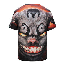 Load image into Gallery viewer, 3D Bat Printed Loose Short Sleeve T-shirt
