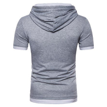 Load image into Gallery viewer, Men's Fake Two-piece Fashion Large Size Short Sleeve Hoodie T-shirt